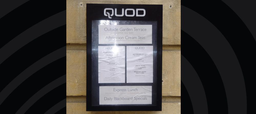 QUOD menu box