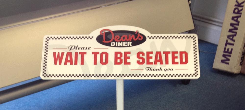 Dean's Diner restaurant sign