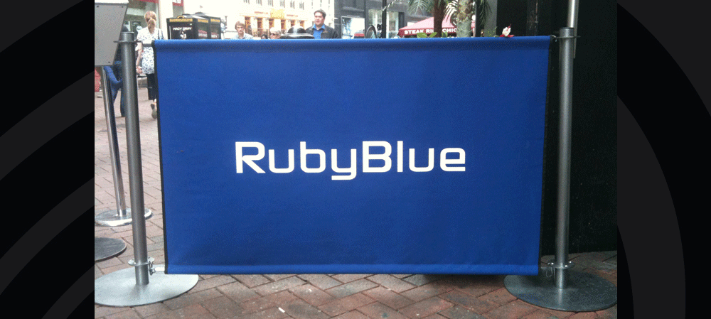 Café style banners for Ruby Blue