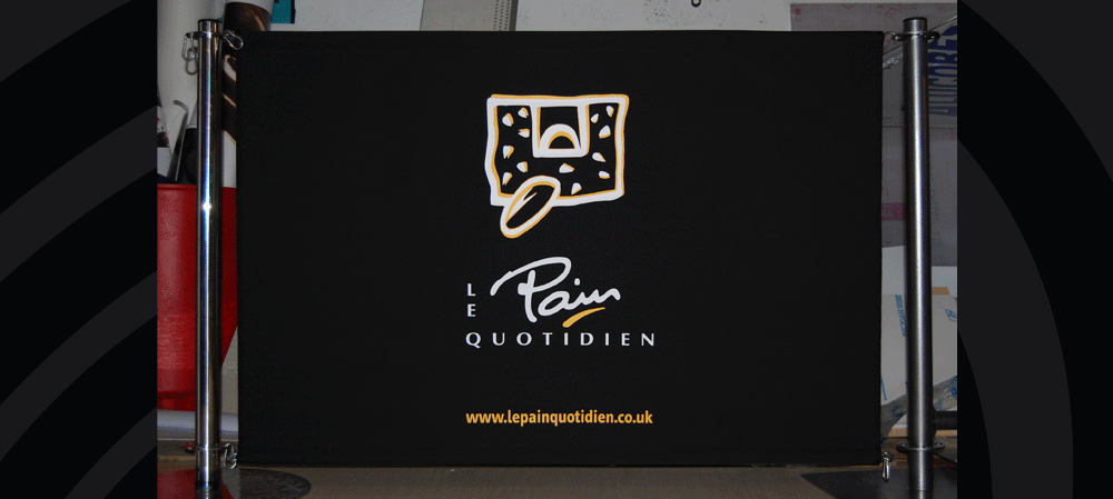 Café style banners for Le Pain Quotidien