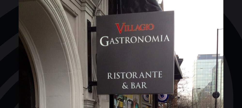 Exterior Signage for Villagio Gastronomia