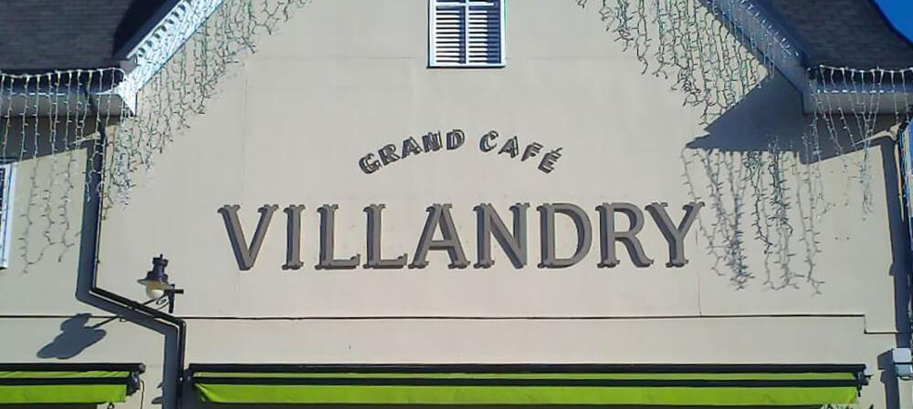 grande cafe villandry external signage