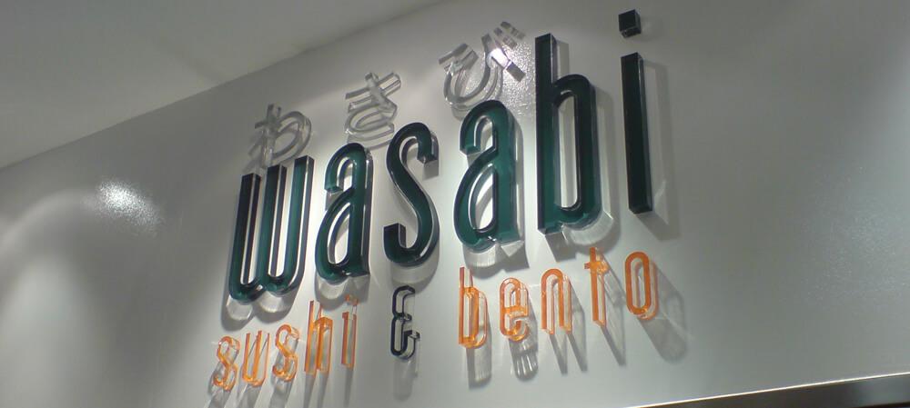Wasabi interior signage