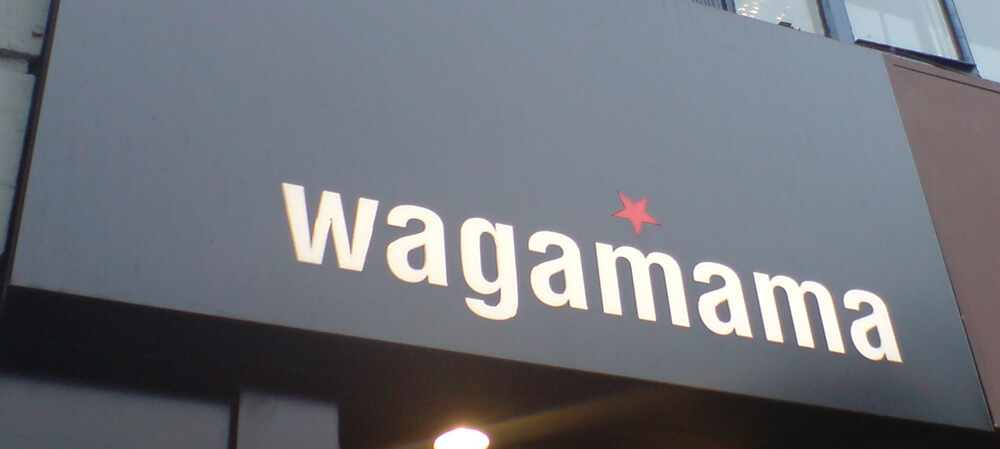 Exterior signage for Wagamama Restaurants