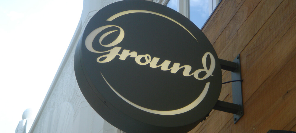 Exterior signage for Ground