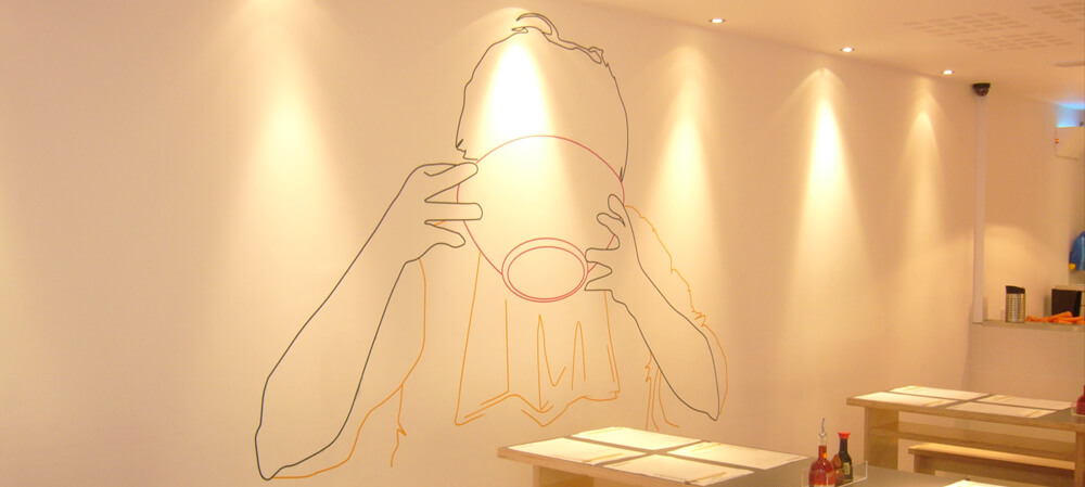 Interior wall graphics for Wagamama's