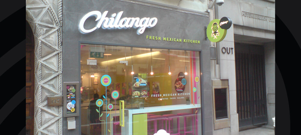 chilango mexican shop front signage