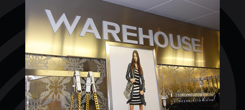 Interior signage for Warehouse
