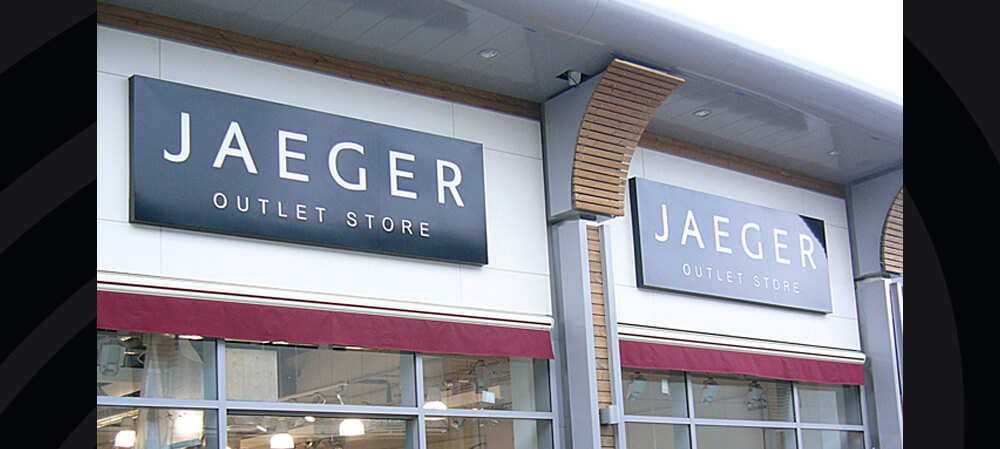 Shopfront exterior for Jaeger