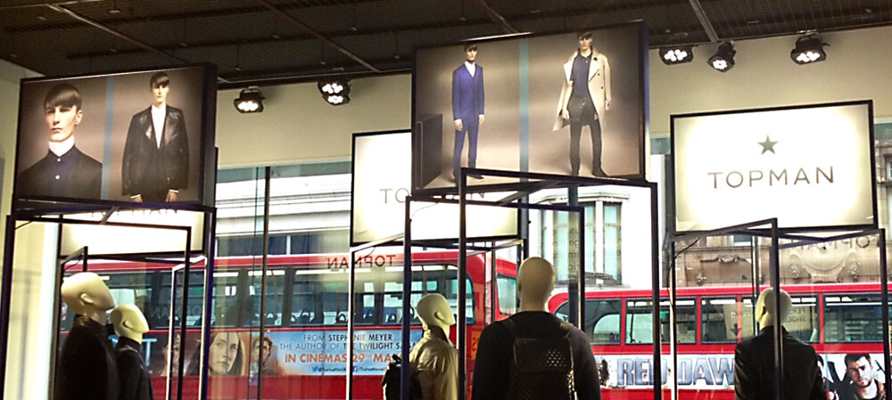 Backlit graphic panels for TopMan
