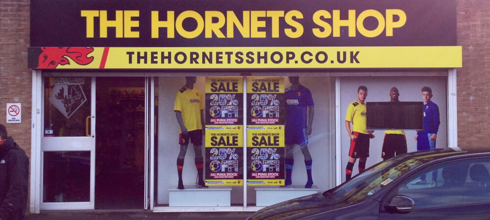 Shopfront for Watford Football Club