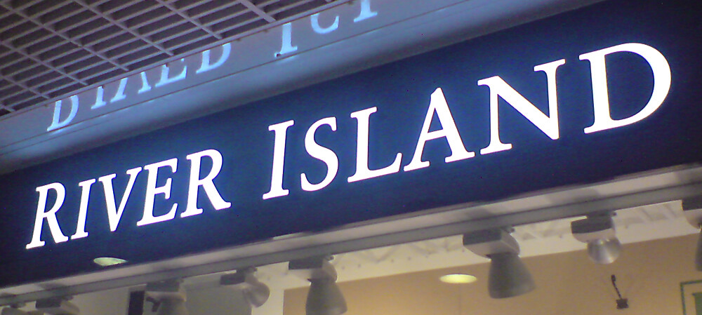 Illuminated signage for River Island