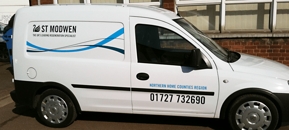 Vehicle livery for St Modwen
