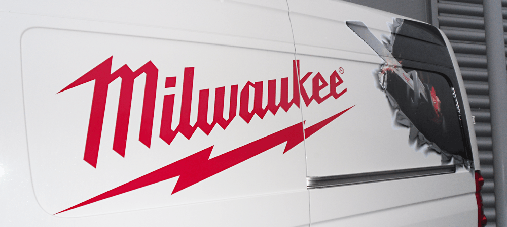 Vehicle livery for Milwaukee van