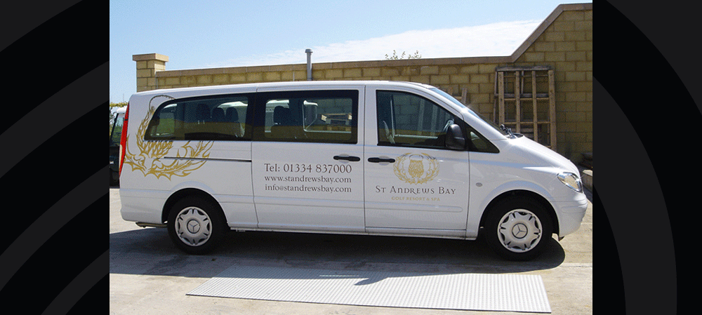 Vehicle livery for St Andrew's Bay van