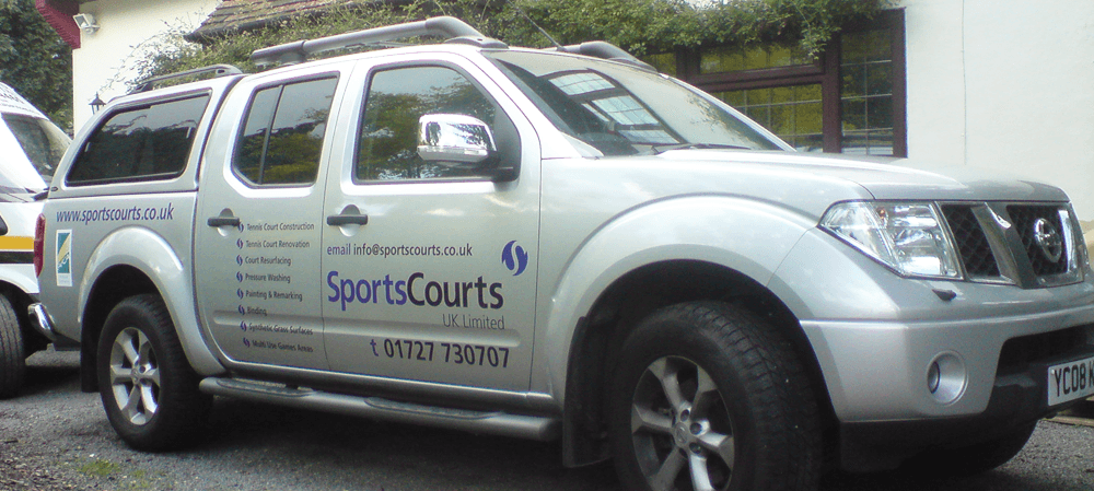 Fleet livery for SportsCourts UK