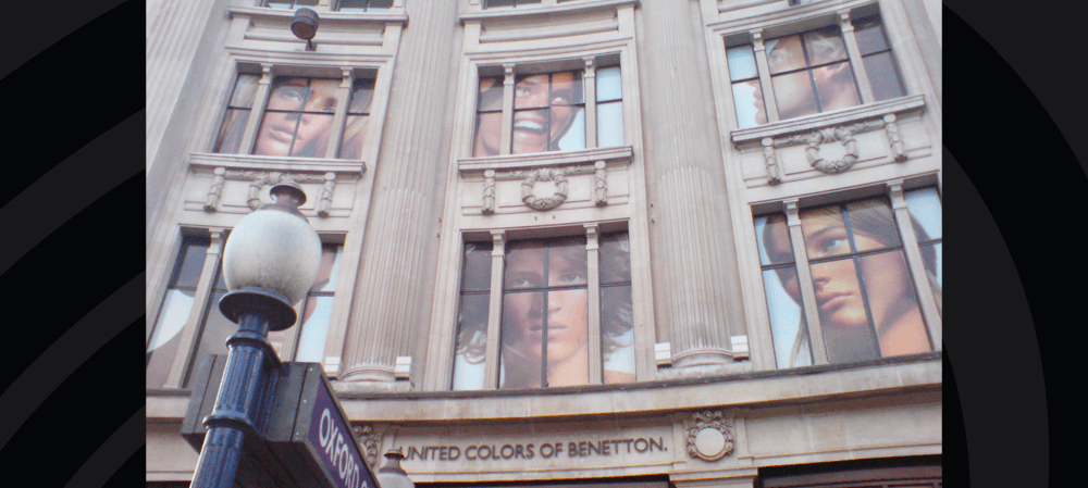 Large format window posters Oxford Street, London