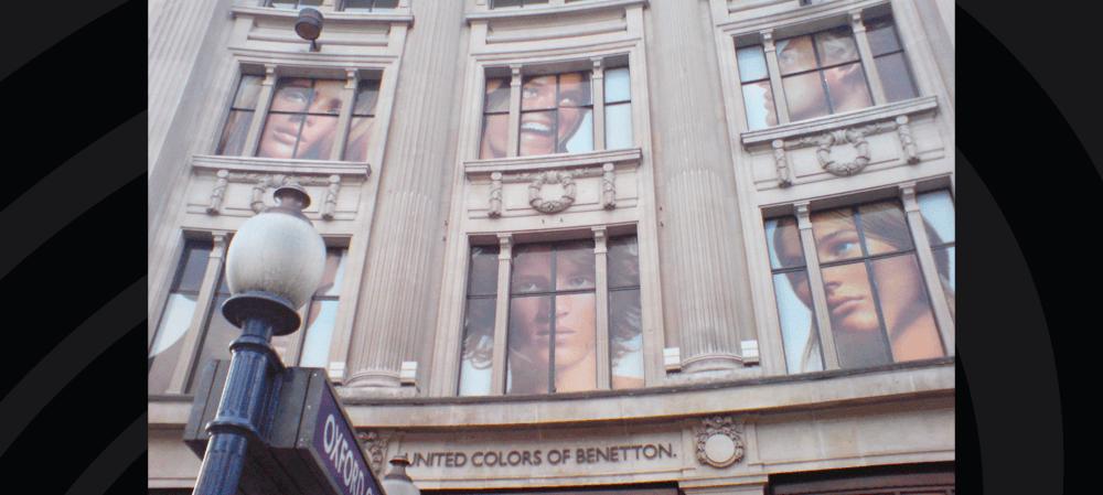 Large format window posters Oxford Street, London