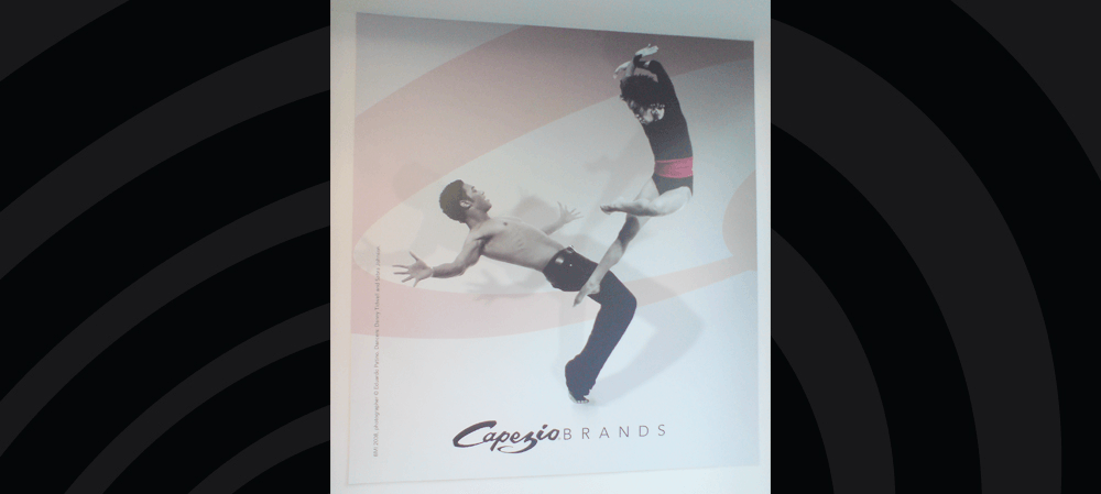 Large format window poster for Capezio