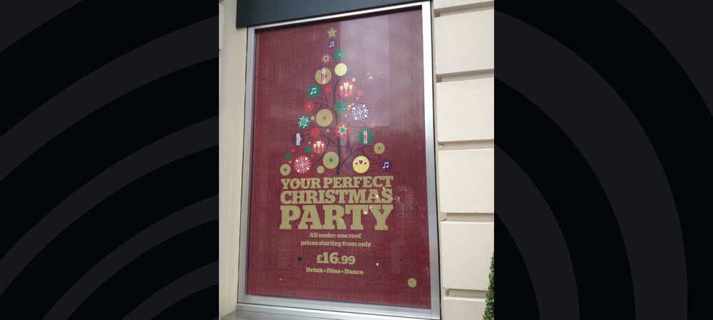 Large format window poster