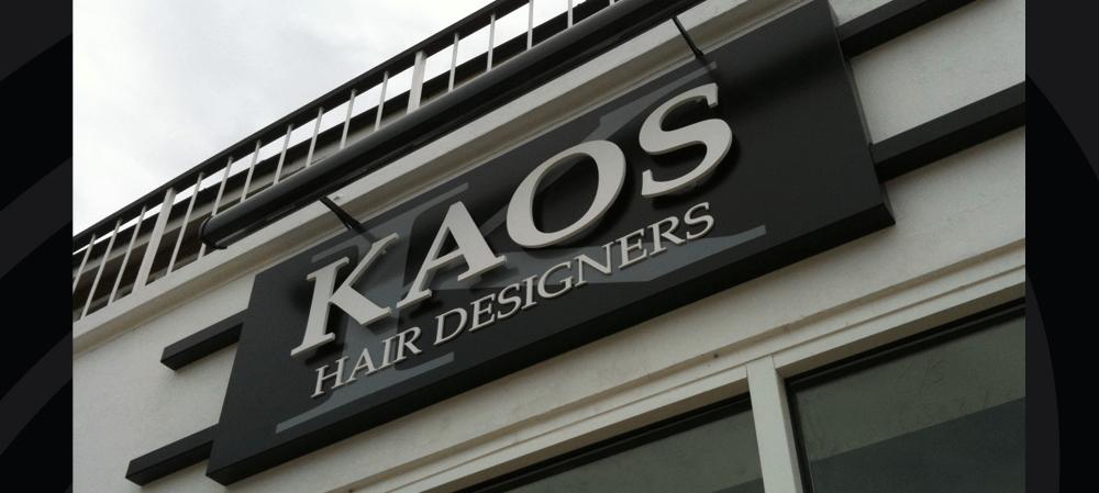 Exterior shopfront for KAOS Hair Designers