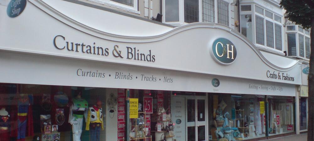 C&H Curtains & Blinds shopfront