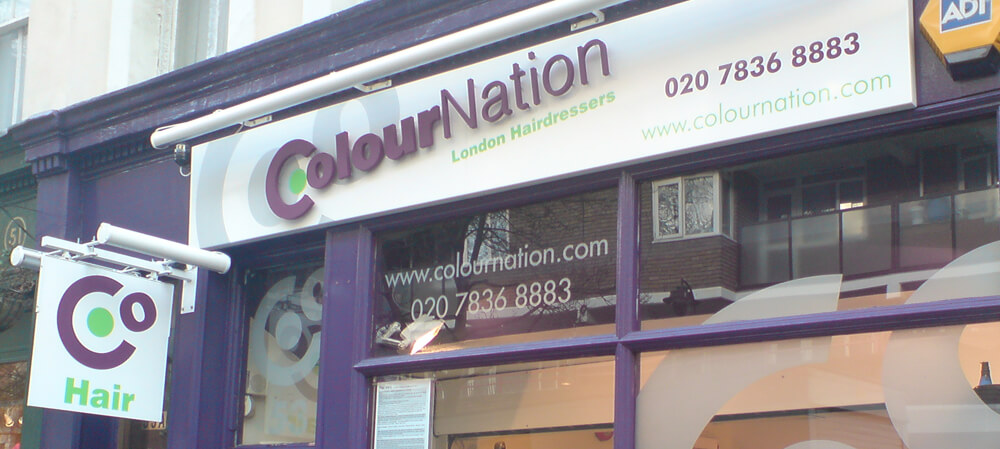 Colour Nation Hairdressers shopfront