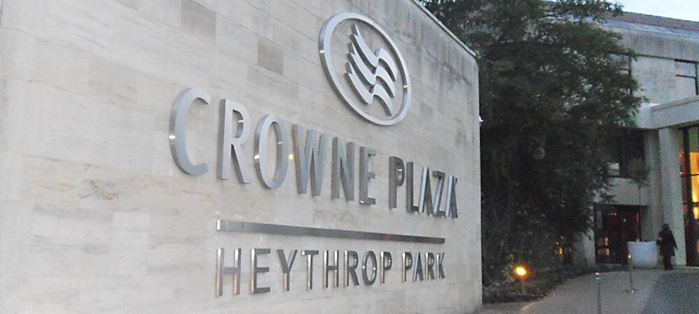 Crowne Plaza (Heythrop Park) entrance signage