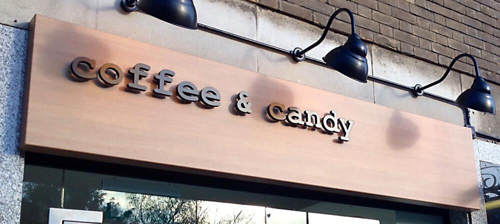 Coffee & Candy shopfront