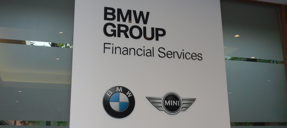 Internal signage for BMW