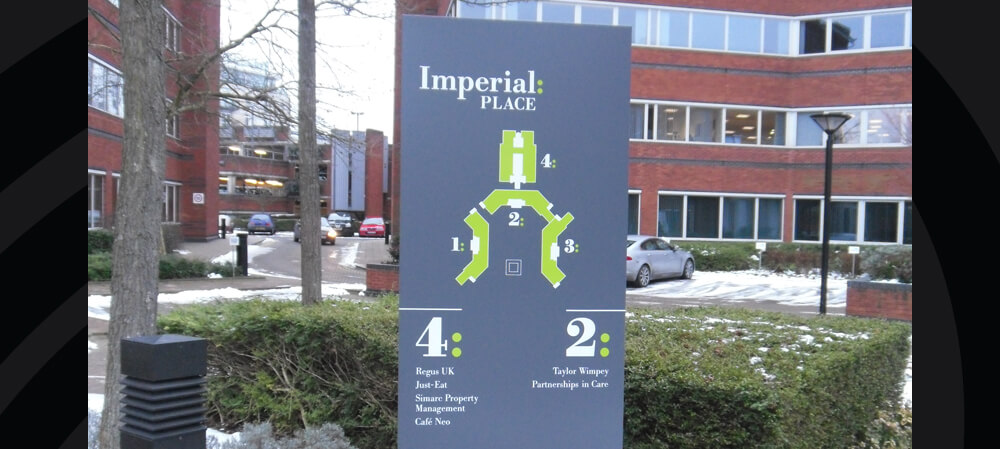 Site map signage for Imperial Place