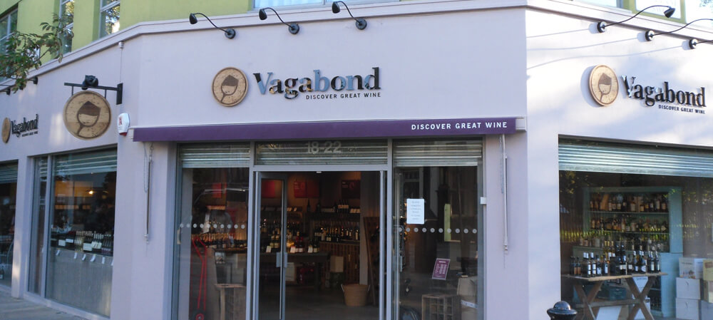 Exterior shopfront for Vagabond Wines