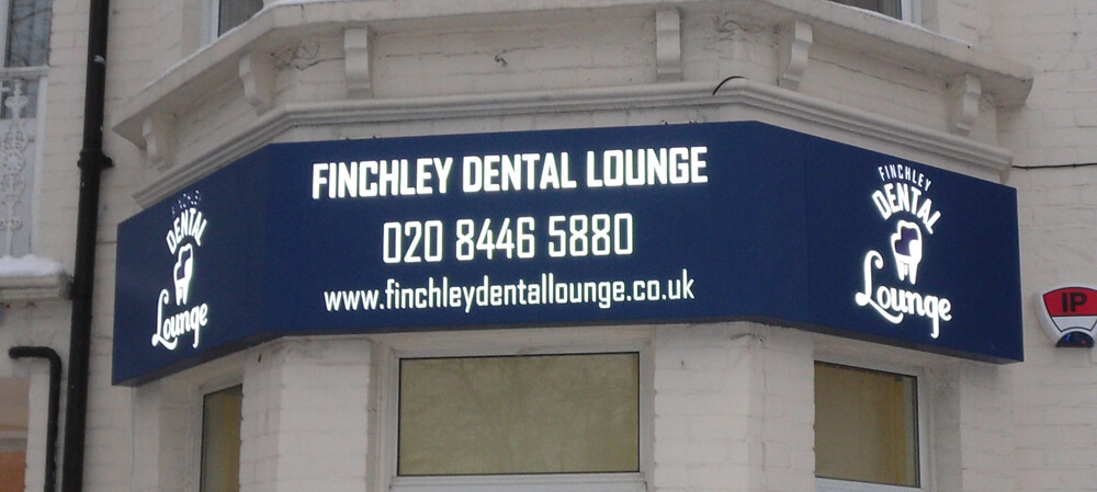 Exterior shopfront for Finchley Dental Lounge