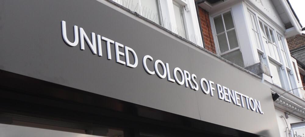 Shopfront signage for United Colours Of Benetton