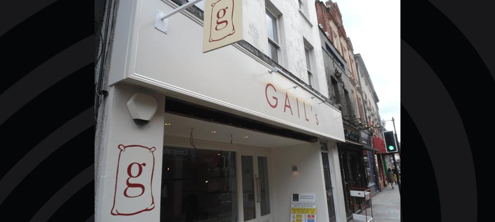 Gail's exterior shopfront signage