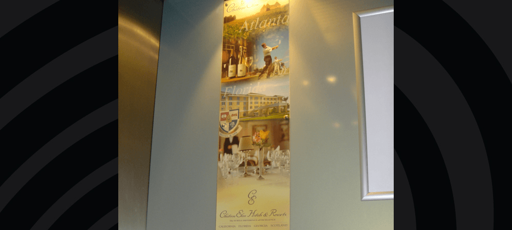 Internal signage for Chateau Elan Hotels & Resorts
