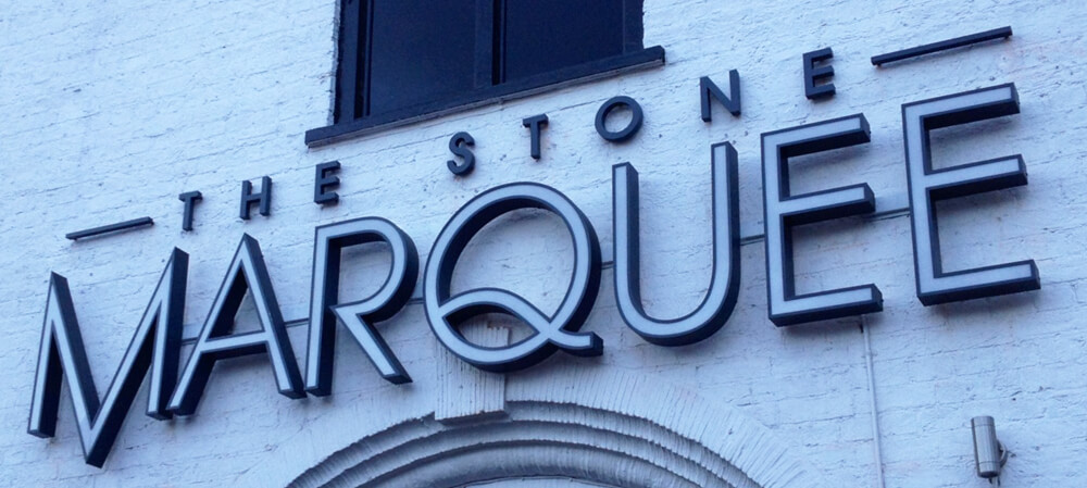 Signage for The Stone Marquee