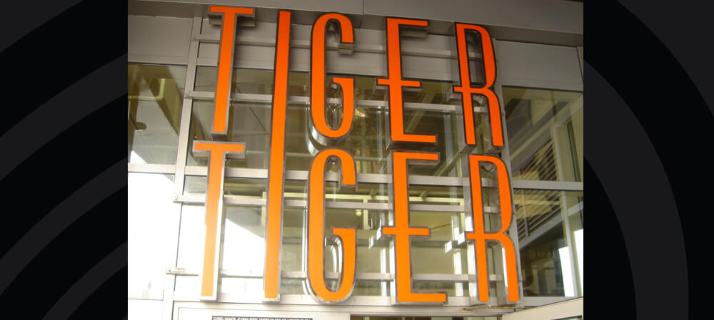 Signage for Tiger Tiger, London