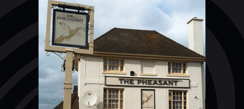 Signage for The Pheasant public house