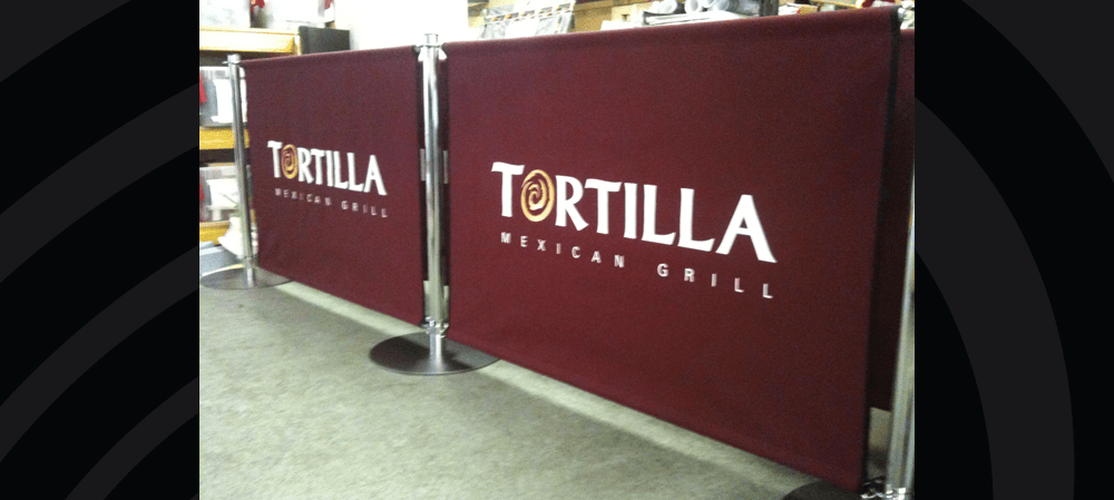 Café style banners for the Tortilla Mexican Grill