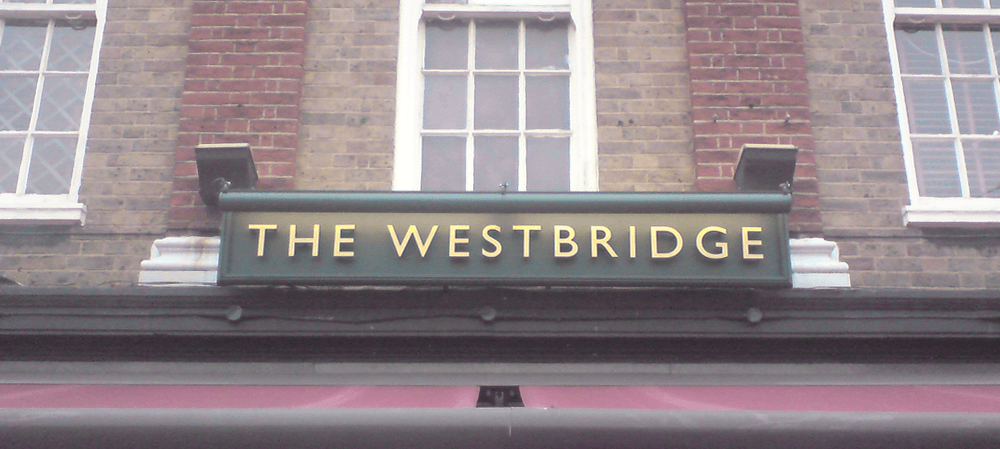 Signage for The Westbridge public house