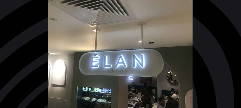 ELAN london internal illuminated signage