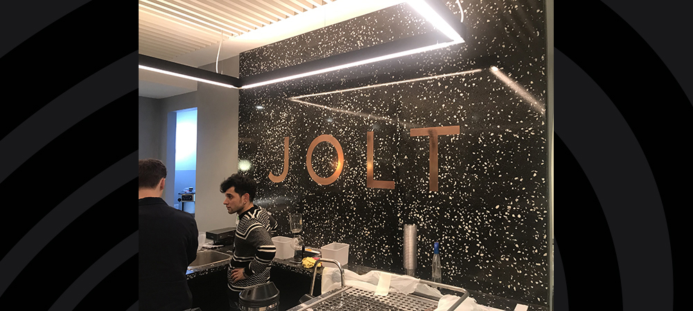jolt internal signage for coffee shop