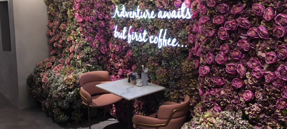 adventure awaits but first coffee illuminated internal sign