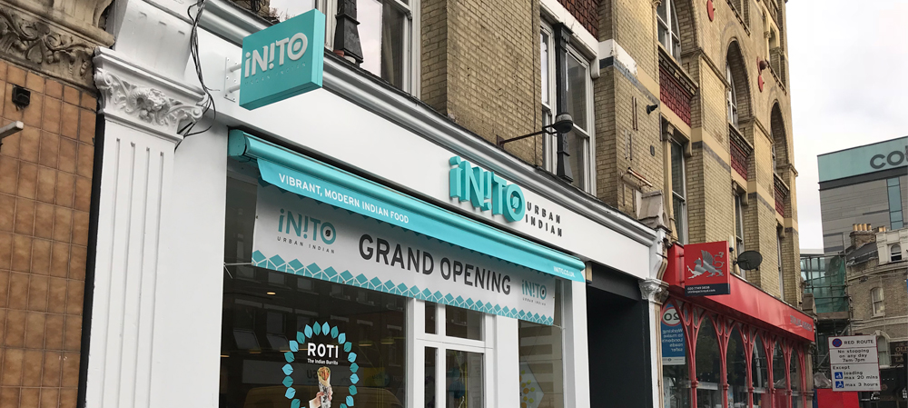 store front signage for inito urban food