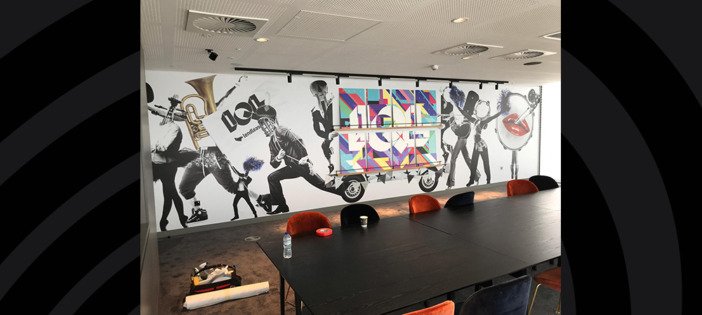 digital wall graphics for office room