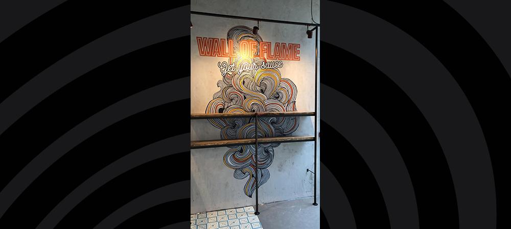 Wall of fame digital printed graphics