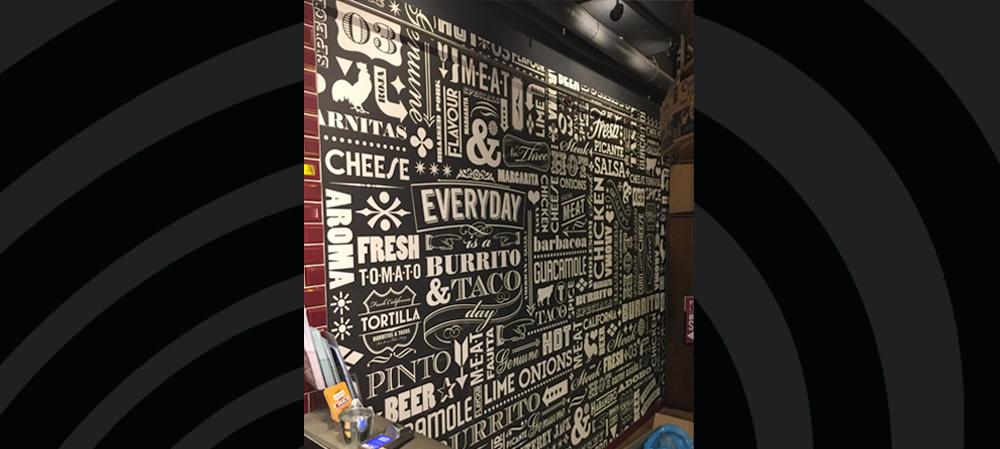 digital wall print for tortilla