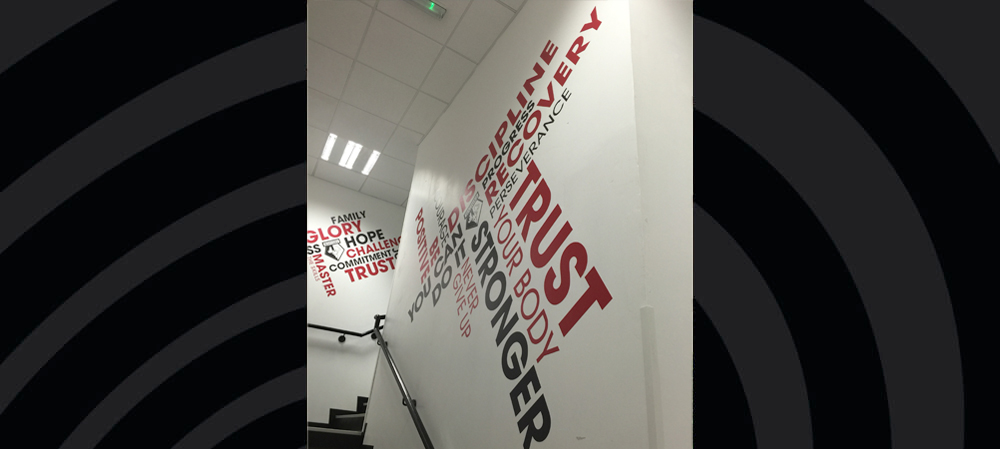watford FC internal digital printed graphics