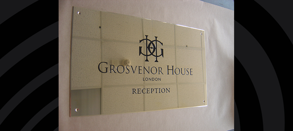 grosvenor house london signage for reception